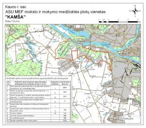 Kamšos ( Kauno raj.sav.) - plotas 733 ha