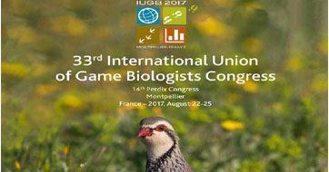 """33-asis Tarptautinės medžiotojų biologų sąjungos kongresas """"Laukinė gyvūnija žmonių įtakoje: ką mes  galime padaryti?"""" Montpellier, Prancūzija"""